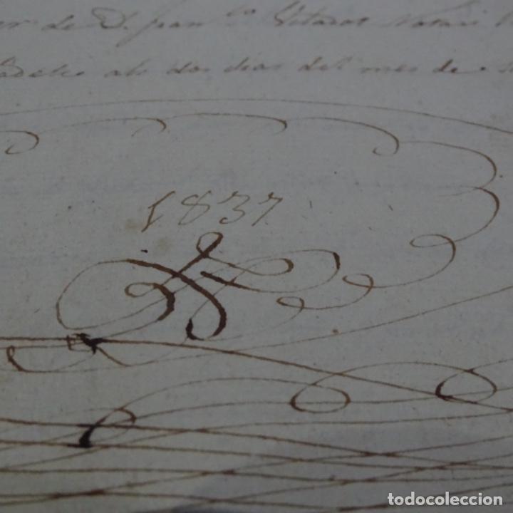 Manuscritos antiguos: Manuscrito escritura de 1837.venta en sabadell.arbitrios de amortización de Mataró.7 hojas. - Foto 2 - 201561490