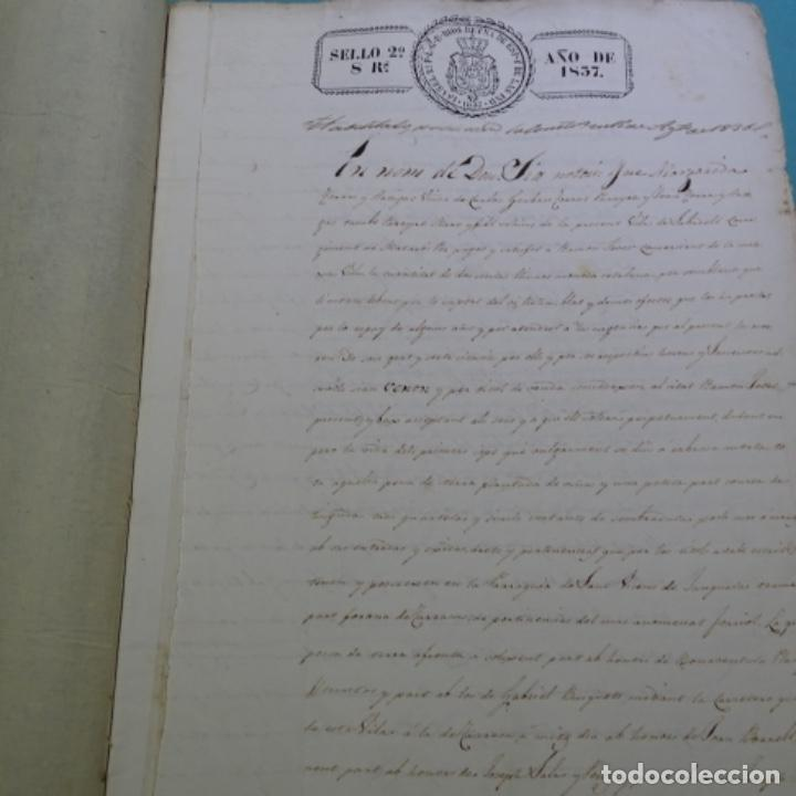 Manuscritos antiguos: Manuscrito escritura de 1837.venta en sabadell.arbitrios de amortización de Mataró.7 hojas. - Foto 4 - 201561490