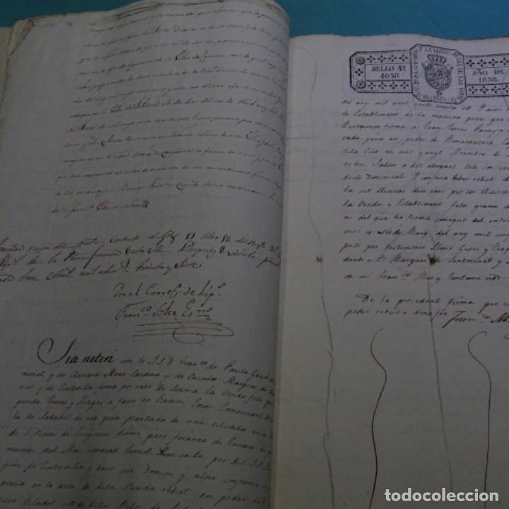 Manuscritos antiguos: Manuscrito escritura de 1837.venta en sabadell.arbitrios de amortización de Mataró.7 hojas. - Foto 6 - 201561490