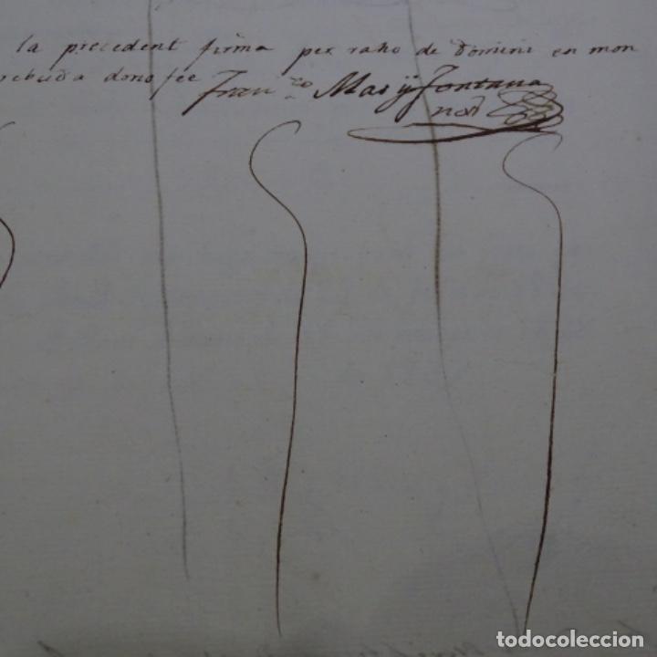 Manuscritos antiguos: Manuscrito escritura de 1837.venta en sabadell.arbitrios de amortización de Mataró.7 hojas. - Foto 8 - 201561490