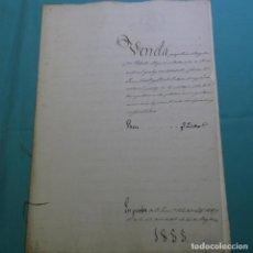 Manuscritos antiguos: MANUSCRITO ESCRITURA DE 1855 DE SABADELL DEL PARTIDO DE TERRASSA.6 HOJAS.. Lote 201561618