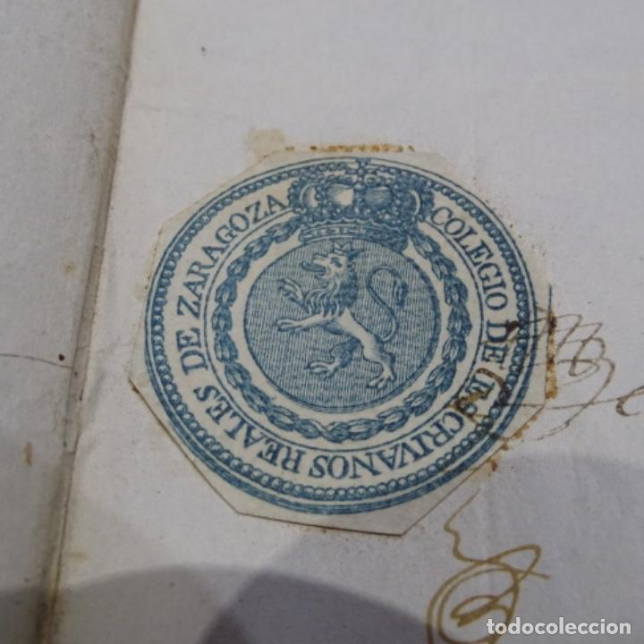 Manuscritos antiguos: Manuscrito 1842.sello de escrivanos reales de zaragoza.2 hojas. - Foto 6 - 201562060