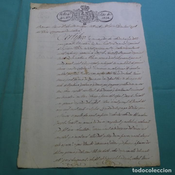 MANUSCRITO ESCRITURA ? DE SANT CUGAT DE VALLES AÑO 1828.1 HOJA.RAMON MIMO. (Coleccionismo - Documentos - Manuscritos)