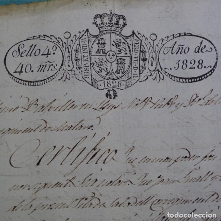Manuscritos antiguos: Manuscrito escritura ? De sant cugat de Valles año 1828.1 hoja.ramon mimo. - Foto 2 - 201562256