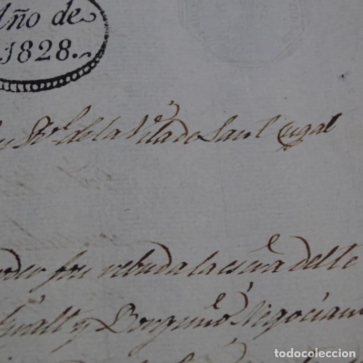Manuscritos antiguos: Manuscrito escritura ? De sant cugat de Valles año 1828.1 hoja.ramon mimo. - Foto 3 - 201562256