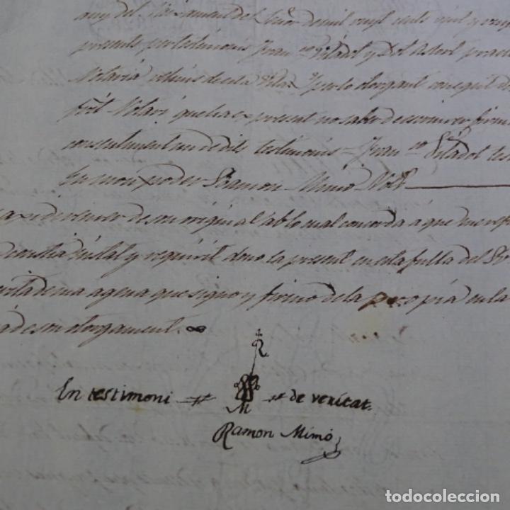 Manuscritos antiguos: Manuscrito escritura ? De sant cugat de Valles año 1828.1 hoja.ramon mimo. - Foto 4 - 201562256