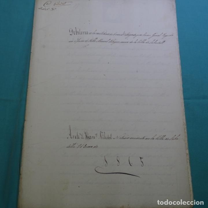 MANUSCRITO DÉBITORIO EN SABADELL AÑO 1865.6 HOJAS (Coleccionismo - Documentos - Manuscritos)