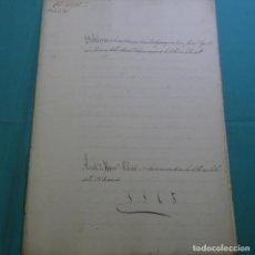 Manuscritos antiguos: MANUSCRITO DÉBITORIO EN SABADELL AÑO 1865.6 HOJAS. Lote 201562360