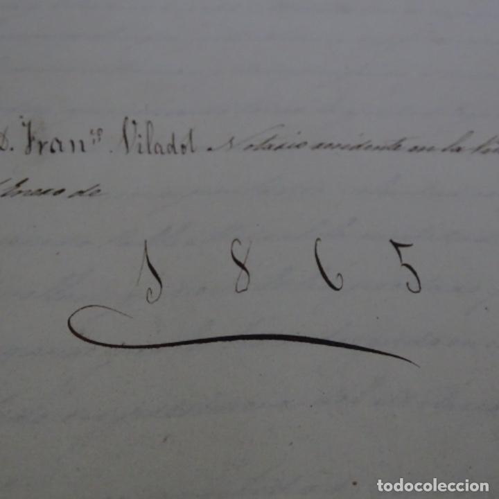 Manuscritos antiguos: Manuscrito débitorio en sabadell año 1865.6 hojas - Foto 2 - 201562360