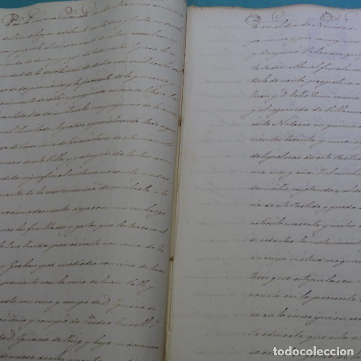 Manuscritos antiguos: Manuscrito débitorio en sabadell año 1865.6 hojas - Foto 4 - 201562360