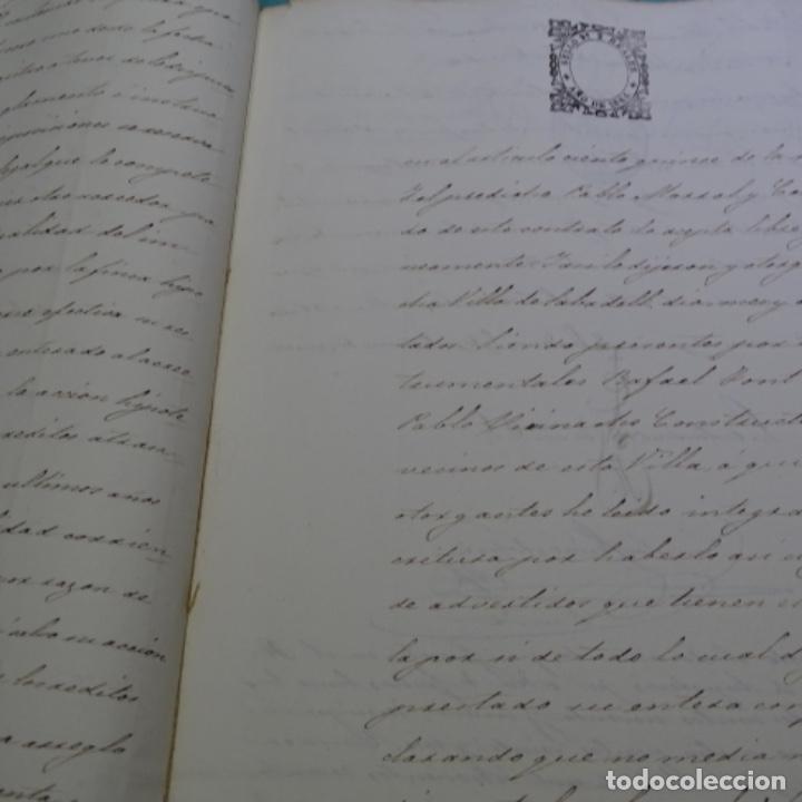 Manuscritos antiguos: Manuscrito débitorio en sabadell año 1865.6 hojas - Foto 5 - 201562360