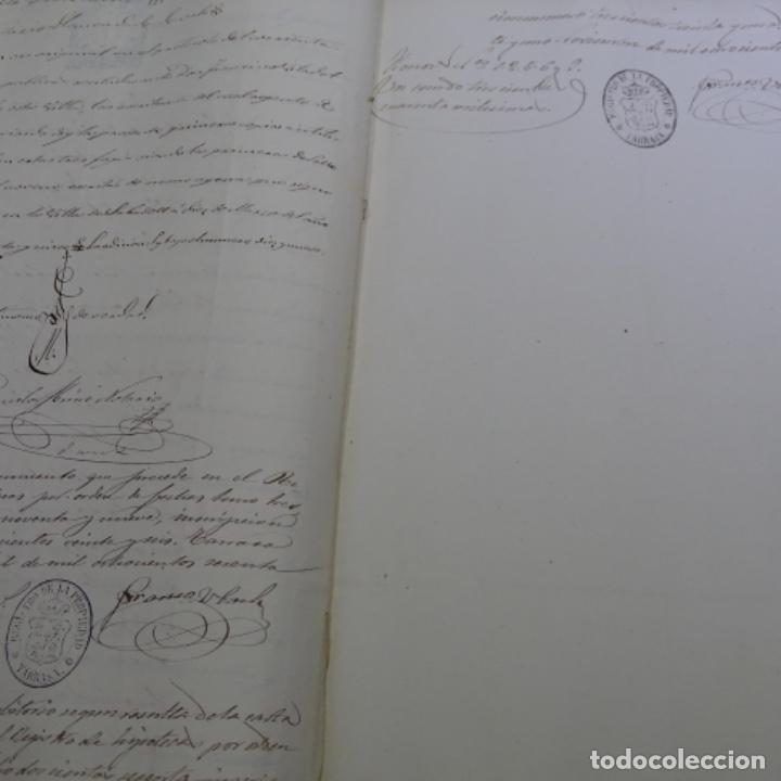 Manuscritos antiguos: Manuscrito débitorio en sabadell año 1865.6 hojas - Foto 6 - 201562360