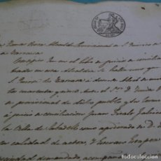 Manuscritos antiguos: MANUSCRITO CERTIFICADO DEL ALCALDE DE SANT QUIRICO DE TERRASSA, THOMAS VIVER.AÑO 1845.1 HOJA.. Lote 201563060