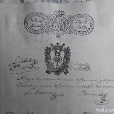 Manuscritos antiguos: MUY RARA IMPRESIÓN EN FISCAL AÑO 1830 MADRID CON ESCUDO FISCALES 4ºS AUTO JUDICIAL. Lote 201598987