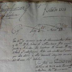 Manuscritos antiguos: MANUSCRITO AÑO 1.531, GRANADA CONVENIO VENTA PRIOR DE CONVENTO, ORD ALCANTARA DEBITO OTRO CONVENTO. Lote 201800836