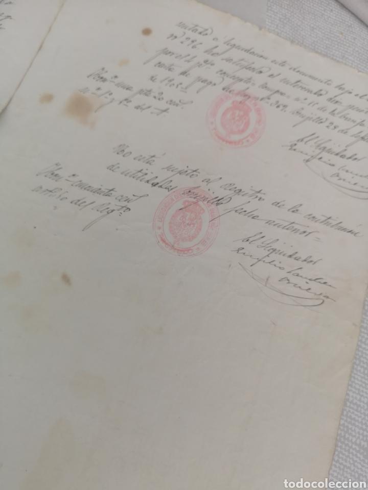 Manuscritos antiguos: Manuscrito antiguo de Trujillo Cáceres le falta un trozo en la primera hoja 1905. - Foto 3 - 201897245