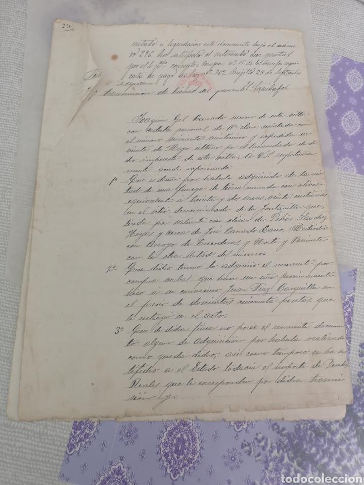 MANUSCRITO ANTIGUO DE TRUJILLO CÁCERES LE FALTA UN TROZO EN LA PRIMERA HOJA 1905. (Coleccionismo - Documentos - Manuscritos)