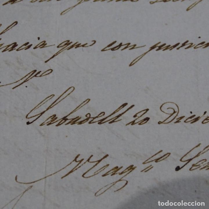 Manuscritos antiguos: Manuscrito Sello fiscal 1842.isabel ii.sabadell.una hoja. - Foto 5 - 201939258