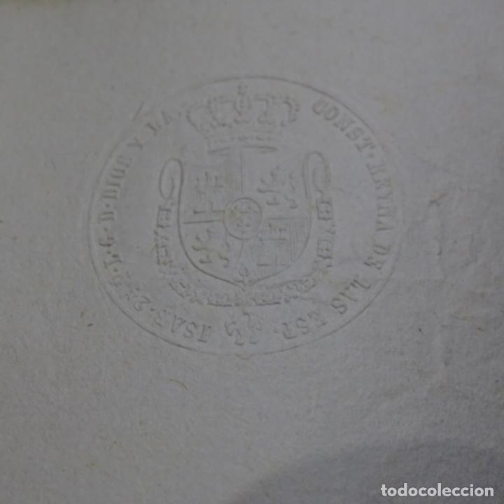 Manuscritos antiguos: Manuscrito Sello fiscal 1847.isabel ii.sabadell.una hoja. - Foto 3 - 201939300