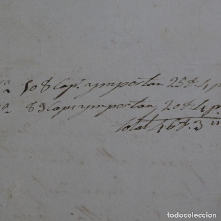 Manuscritos antiguos: Manuscrito Sello fiscal 1847.isabel ii.sabadell.una hoja. - Foto 7 - 201939300