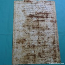 Manuscritos antiguos: MANUSCRITO SIN DATAR(SIGLO XVII-XVIII ?).UNA HOJA.. Lote 201939983