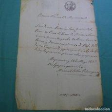 Manuscritos antiguos: MANUSCRITO 1847.CERTIFICADO ESTANCO MEQUINENZA (ZARAGOZA)PARA LLEVAR GANADO SANTA COLOMA DE QUERALT.. Lote 201940555