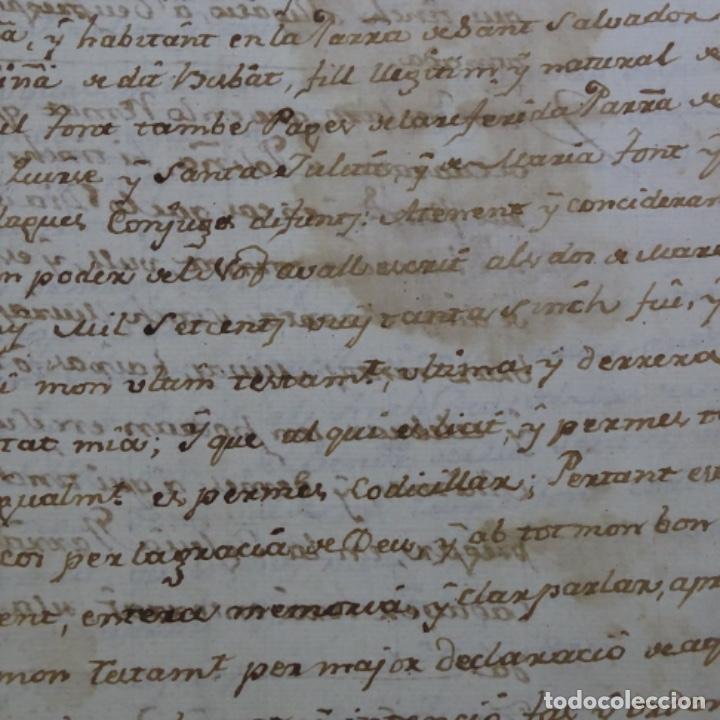 Manuscritos antiguos: manuscrito sello fiscal Carlos iv 1789.2 hojas.poliña-sabadell. - Foto 4 - 201941116