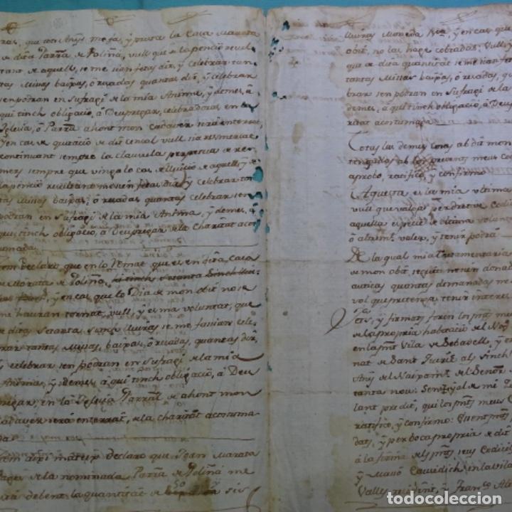 Manuscritos antiguos: manuscrito sello fiscal Carlos iv 1789.2 hojas.poliña-sabadell. - Foto 5 - 201941116