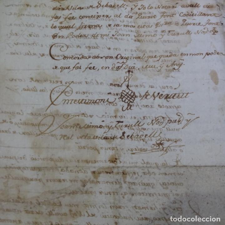 Manuscritos antiguos: manuscrito sello fiscal Carlos iv 1789.2 hojas.poliña-sabadell. - Foto 6 - 201941116