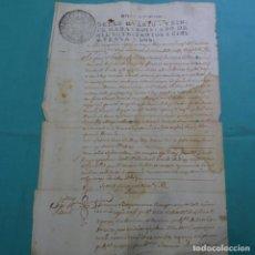 Manuscritos antiguos: MANUSCRITO SELLO FISCAL 1752 FERNANDO VI.SABADELL.UNA HOJA.. Lote 201941251