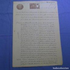 Manuscritos antiguos: MANUSCRITO SELLO FISCAL 1900.VALDEPEÑAS, TERRITORIAL DE ALBACETE.DOS HOJAS.. Lote 202041420