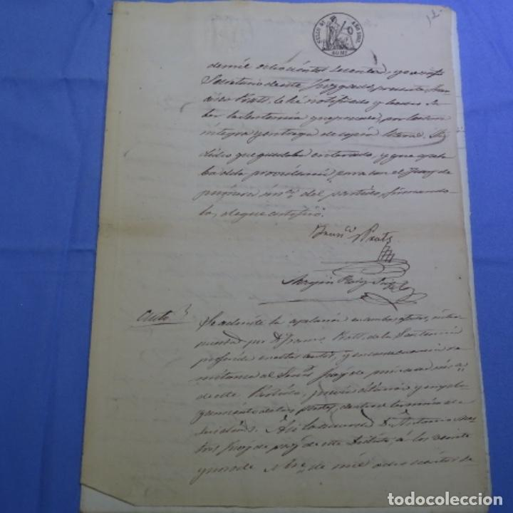 MANUSCRITO SELLO FISCAL 1860.FRANCISCO PRATS. (Coleccionismo - Documentos - Manuscritos)
