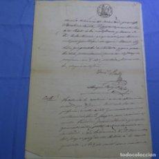Manuscritos antiguos: MANUSCRITO SELLO FISCAL 1860.FRANCISCO PRATS.. Lote 202041576