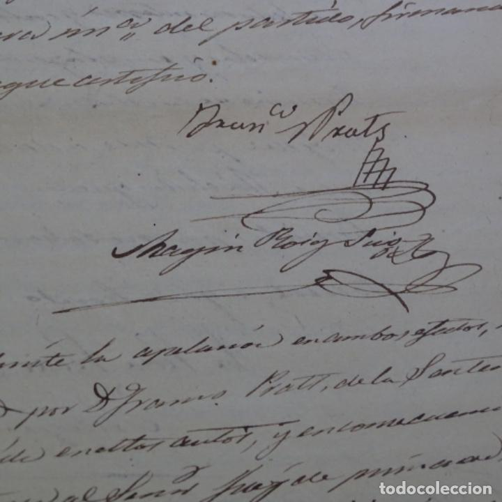 Manuscritos antiguos: Manuscrito sello fiscal 1860.francisco Prats. - Foto 3 - 202041576
