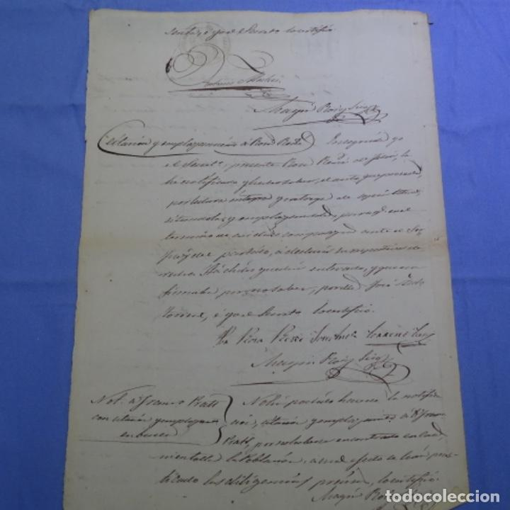 Manuscritos antiguos: Manuscrito sello fiscal 1860.francisco Prats. - Foto 4 - 202041576