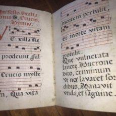 Manuscritos antiguos: HIMNARIO 1701, MANUSCRITO SOBRE PERGAMINO. CANTORAL DE USO INDIVIDUAL.. Lote 202079227