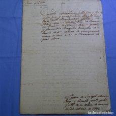 Manuscritos antiguos: MANUSCRITO SELLO FISCAL 1779(CARLOS III).CATALAN.TERRASSA.CAPITULACIONES MATRIMONIALES.10 HOJAS.. Lote 202379811