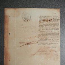 Manuscritos antiguos: TRANSPORTE DE ESCLAVOS HUIDOS, POR VAPOR CUBA AÑO 1861 PAGO DEL PASAJE POR EL DUEÑO - RARO . Lote 202493432