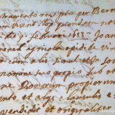 Manuscritos antiguos: DOCUMENTACIÓN VINCULADA A JOAN DOMENECH, VINEBRE. MANUSCRITOS. CATALUNYA. ESPAÑA. CIRCA 1693. Lote 202555508