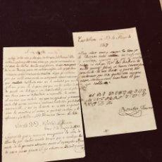 Manuscritos antiguos: DOS CARTAS COPIADAS EN 1867 A PARTIR DE MANUSCRITO 1781 CALIGRAFIA ABECEDARIO 21X13CMS CASTELLON. Lote 202565041