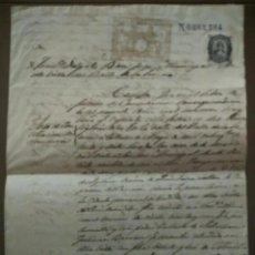 Manuscritos antiguos: DOCUMENTO SIGLO XIX BADAJOZ, COMPLETO Y LEGIBLE. Lote 202572431