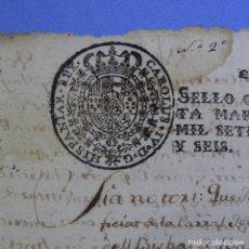 Manuscritos antiguos: MANUSCRITO DE 1796.SELLO FISCAL DE CARLOS IV.VILLA DE SANT FELIU DE SABADELL.2 HOJAS.. Lote 202614067