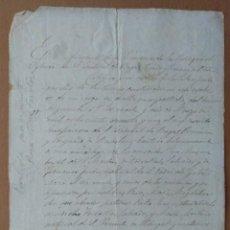 Manuscritos antiguos: MANUSCRITO PARTIDA NACIMIENTO PARROQUIA SE SANT CRISTOBAL DE BEGAS-BEGUES (BARCELONA). Lote 202638105