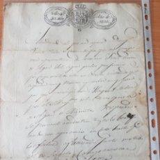 Manuscritos antiguos: DOCUMENTO AÑO 1830 SELLO 4O 40 MARAVEDIES. Lote 203023651