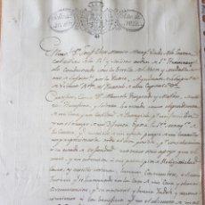 Manuscritos antiguos: DOCUMENTO AÑO 1828 SELLO 4O 40 MARAVEDIES. Lote 203028242
