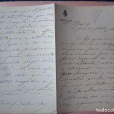 Manuscritos antiguos: DOCUMENTO MANUSCRITO DEL POLÍTICO QUE FUE SENADOR NACIDO EN CÓRDOBA ÁNGEL AVILÉS Y MERINO.. Lote 203079630