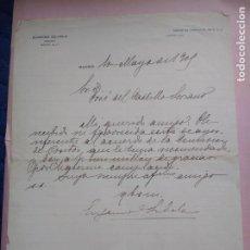 Manuscritos antiguos: CARTA MANUSCRITA CON FIRMA DE EUGENIO SILVELA ABOGADO, ESCRITOR Y POLÍTICO.. Lote 203115757