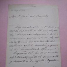 Manuscritos antiguos: CARTA MANUSCRITA CON FIRMA DE JAIME CARDONA Y TUR NACIDO EN IBIZA OBISPO SIÓN PRO VICARIO CASTRENSE.. Lote 203134730