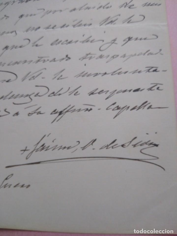 Manuscritos antiguos: Carta manuscrita con firma de Jaime Cardona y Tur nacido en Ibiza Obispo Sión Pro Vicario Castrense. - Foto 2 - 203134730