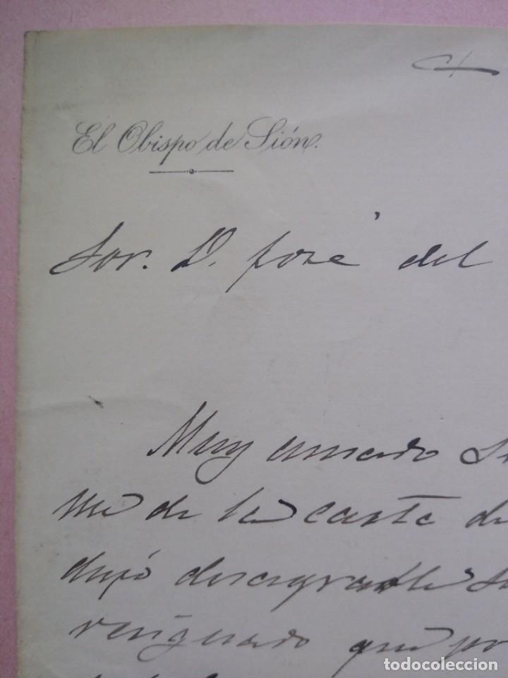 Manuscritos antiguos: Carta manuscrita con firma de Jaime Cardona y Tur nacido en Ibiza Obispo Sión Pro Vicario Castrense. - Foto 3 - 203134730